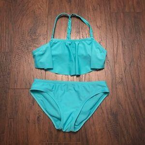 Old Navy Girls Teal Bikini Size M 8